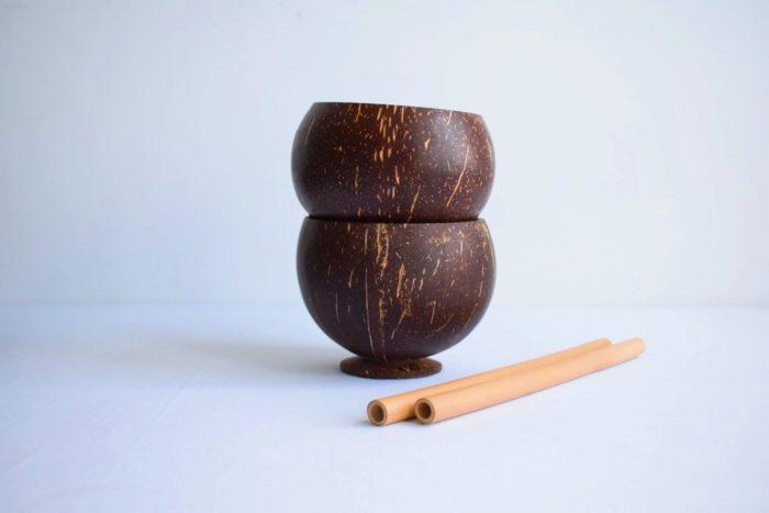 Copa de coco liso - Kokonat Bowls