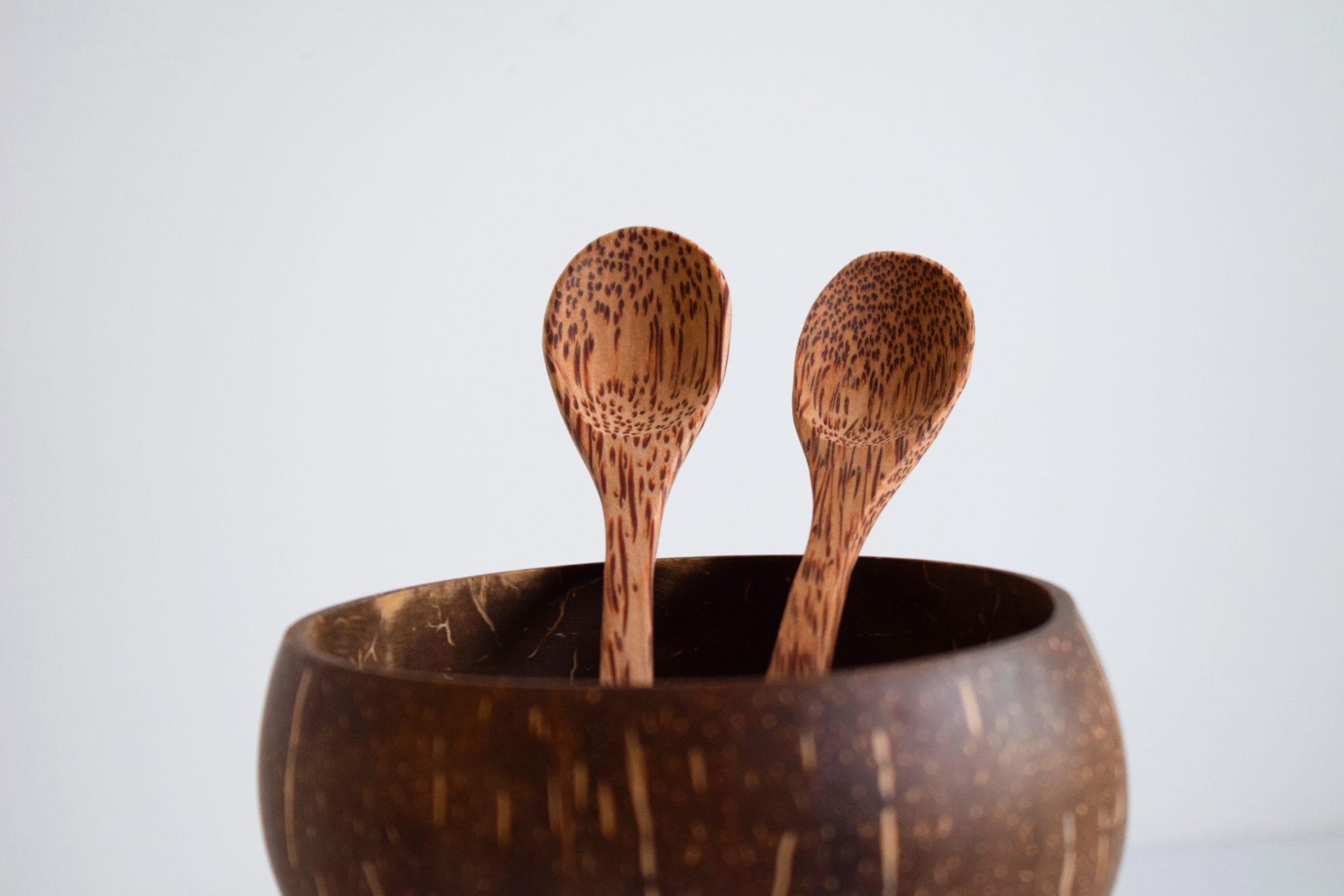 Pack DUO - Bowl coco grande liso - Cucharas