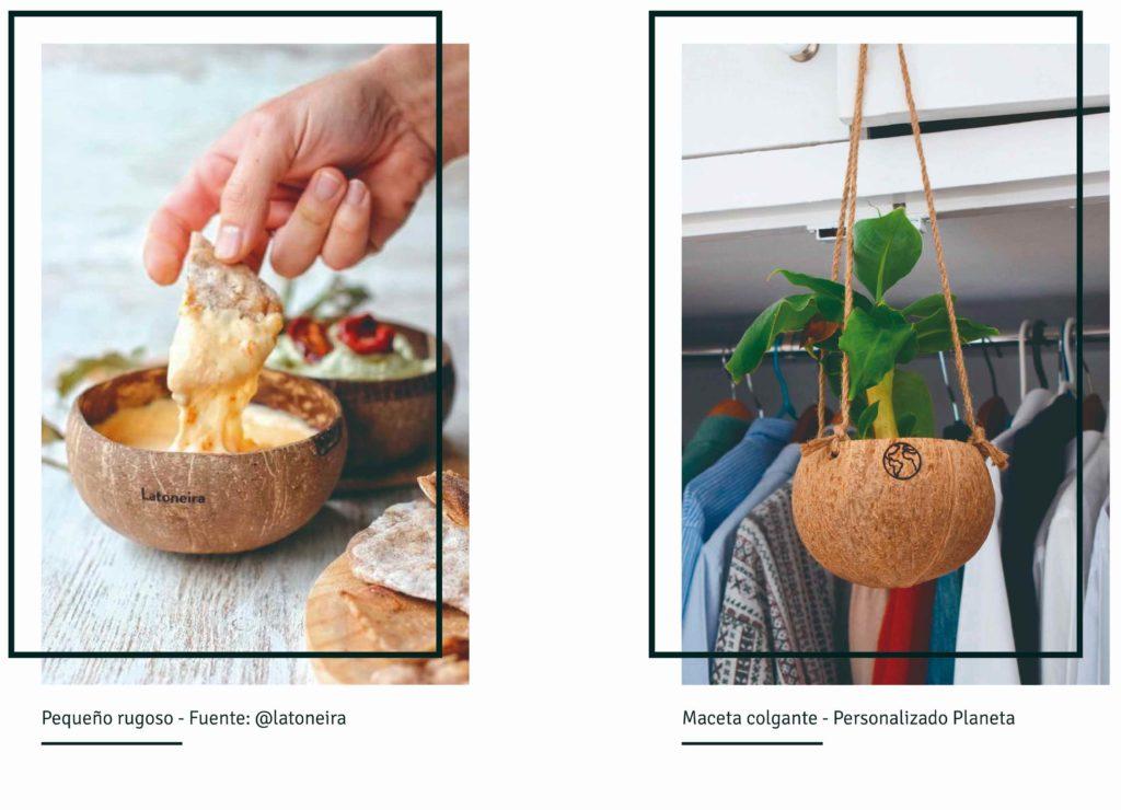 Foto bowls de coco personalizados