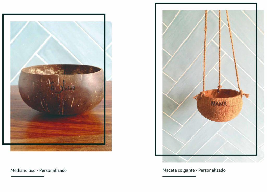 Bowls de coco personalizados post