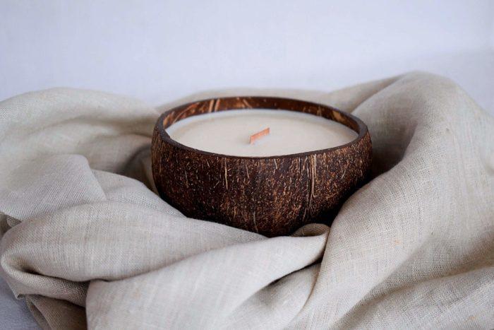 Vela de coco en lino - Kokonat Bowls