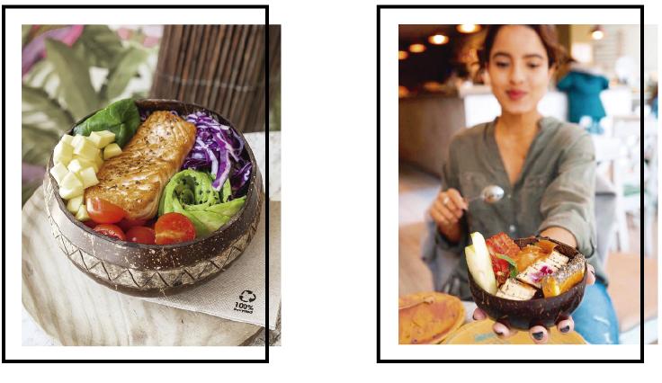Bowls de coco para restaurantes _Casa do Açaí